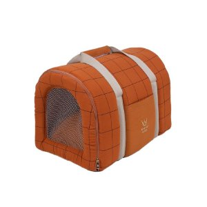 Bolsa de Transporte Pet Woof Classic  Sheep Grid Caramelo