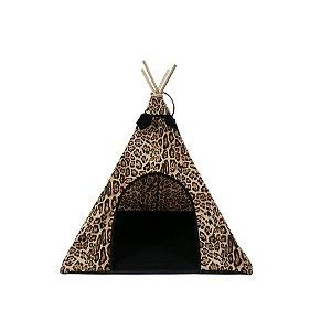 Cabana Para Cachorro Woof Classic  Apache Animal Print Lovers Preto