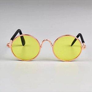 Óculos de Sol para Cachorro e Gato Amarelo