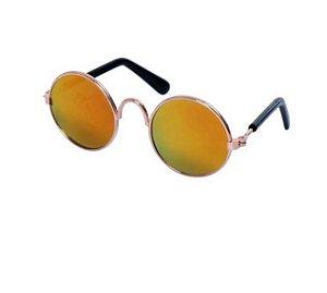 Óculos de Sol para Cachorro e Gato Amarelo Espelhado