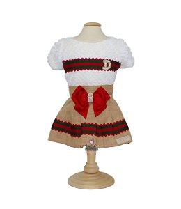 Vestido para cachorro DuDog Vest Natal Gucci Inspired