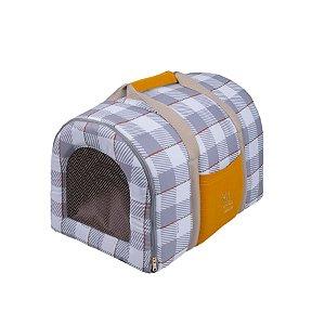Bolsa de Transporte Pet Woof Classic London Léo Cinza
