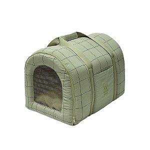 Bolsa de Transporte Pet Woof Classic  Sheep Grid Areia