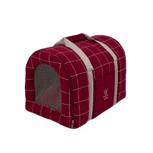 Bolsa de Transporte Pet Woof Classic  Sheep Grid Marsala