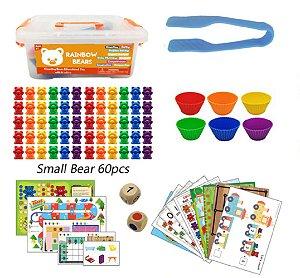 (SOB ENCOMENDA) Kit Rainbow Counting Bears - 84 peças [leia descrição]