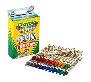 Metallic Crayola - Giz de Cera - 24 cores
