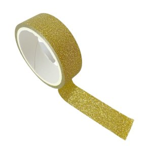 Fita Adesiva Glitter Dourada-  3 metros