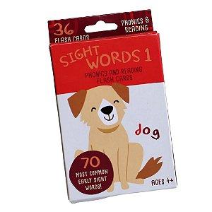 36 Flash Cards - Sight Words -Palavras e Figuras