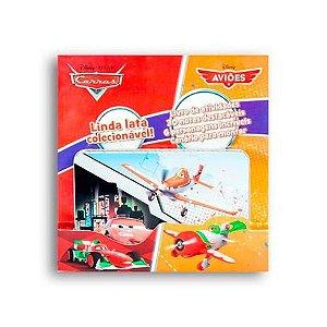Latinha Colecionável Disney Pop-Up para criar cenário - Carros e Aviões