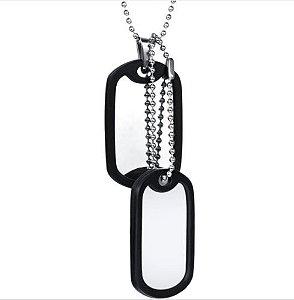 Conjunto Army Tags Aço Inoxidável Exército Personalizadas