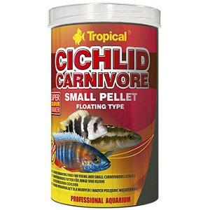 Ração Tropical Cichlid Carnivore Small Pellet 90g