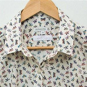 Camisa Feminina Dudalina estampa Liberty - N 44