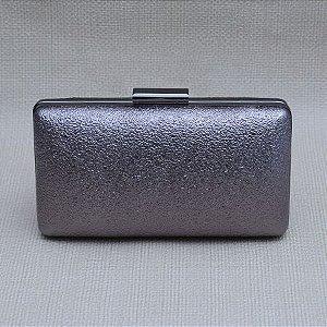 Bolsa Clutch Prata Envelhecido