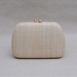 Bolsa Clutch Palha com fecho imã Dourado