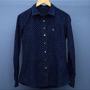 Camisa Feminina Dudalina Jeans escuro - N 38