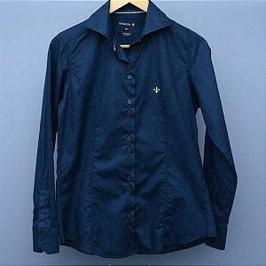 Camisa Feminina Dudalina Azul - N 38