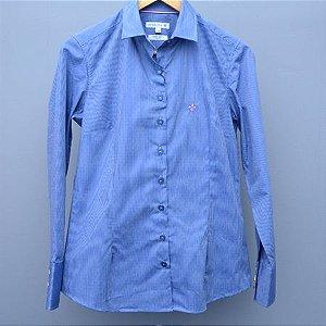 Camisa Feminina Dudalina Azul claro - N 38