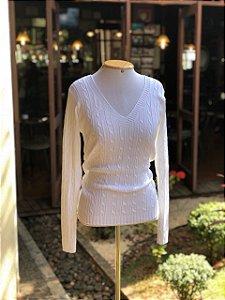 Blusa de Tricô Branca