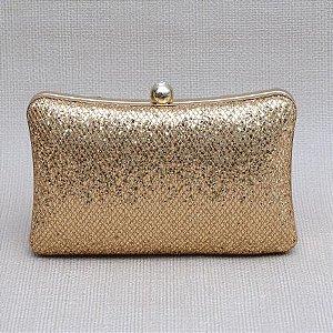 Bolsa Clutch Dourada com brilho