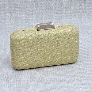 Bolsa Clutch Dourada Brilhante