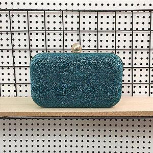 Bolsa Clutch Lurex Azul