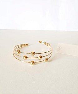Bracelete três fios na cor dourada