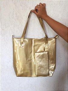 Bolsa Silicone Dourada