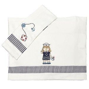 Jogo de Lençol para Berço Navy Feminino