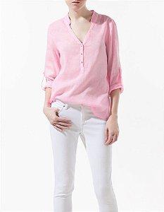 Blusa com Decote em V Fashion 2013