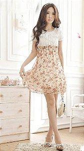 Vestido Importado Chiffon Floral
