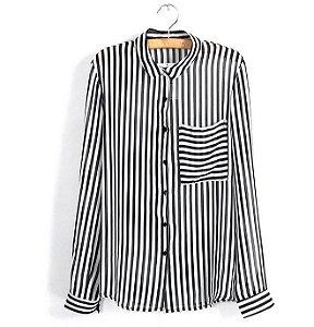 Camisa Importada Listrada com Bolso