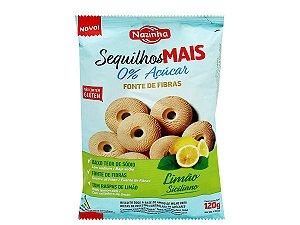 Sequilho Sabor Limão Zero Açúcar - 120g - Nazinha