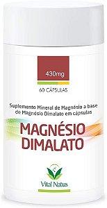 Magnésio Dimalato - 60 Cápsulas (430mg) - Vital Natus
