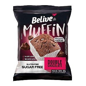 Muffin Zero Glúten e Zero Açúcar (Double Chocolate) 40g - Belive