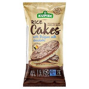 Biscoito de Arroz Com Chocolate Belga Ao Leite  90g - Kupiec