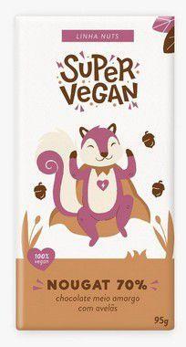 Chocolate Meio Amargo Com Avelãs - 95g - Super Vegan