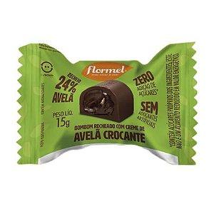 Bombom com Creme de Avelã Crocante (Sem Açúcar) 15g - Flormel