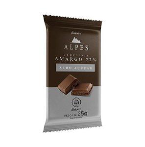 Chocolate Amargo Alpes (Zero Açúcar) 25g - Salware