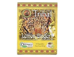 Chá Misto Orgânico c/ 15 sachês (Chá Mate, Limão e Gengibre) 15g - Tribal