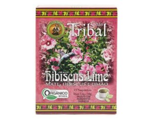 Chá Misto Orgânico c/ 15 sachês (Chá Mate, Hibiscus e Limão) 15g - Tribal