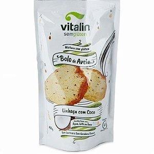 Mistura para Bolo de Aveia Sem Glúten (sabor Linhaça e Coco) 300g - Vitalin