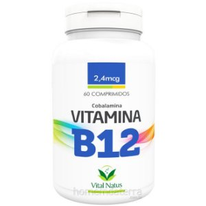 Vitamina B12 - 60 Cápsulas (2,4mcg) - Vital Natus