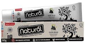 Creme Dental Natural e Vegano com extratos de Bambu, Romã e Sálvia- Carvão Ativado 80g - Contente Suavetex