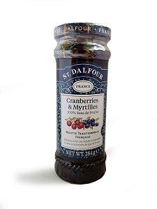Geléia de Cranberry e Mirtilo - 284g - St. Dalfour Vidro