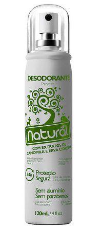 Desodorante Natural Suavetex Com extratos de Camomila e Erva Cidreira - 120 ml - Orgânico e Natural