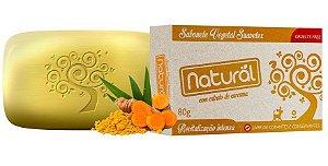 Sabonete Natural Suavetex Com Extrato de Cúrcuma - 80g - Orgânico e Natural