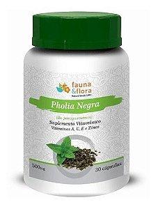 Pholia Negra Com Vitamina A, C E e Zinco (500mg) - 30 Cápsulas - Fauna & Flora