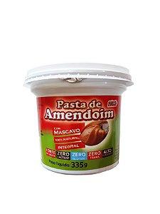 Pasta de Amendoim Integral Cremosa Zero Açúcar - 335g - Grãos e Cereais