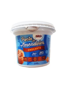 Pasta de Amendoim Crocante Zero Açucar - 335g - Grãos e Cereais