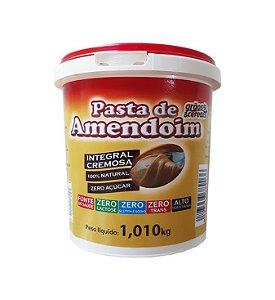 Pasta de Amendoim Integral Cremosa Zero Açúcar - 1,010kg - Grãos e Cereais